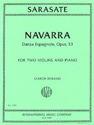 Navarra, opus 33 - SARASATE - Partition - Trios - laflutedepan.com
