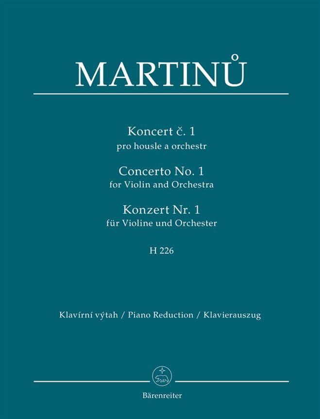 Concerto pour violon n° 1 - Violon et piano - laflutedepan.com