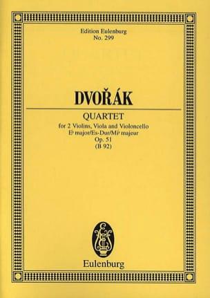 Quatuor à Cordes en Mib Majeur Op. 51 DVORAK Partition laflutedepan