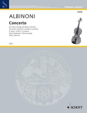 Violin-Konzert A-Dur ALBINONI Partition Violon - laflutedepan