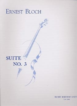 Suite n° 3 - Cello solo BLOCH Partition Violoncelle - laflutedepan