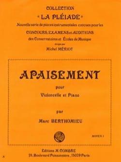 Apaisement Marc Berthomieu Partition Violoncelle - laflutedepan