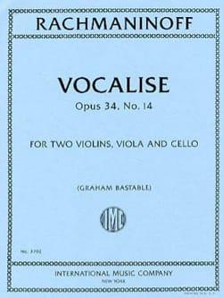 Vocalise, opus 34 n° 14 - Quatuor à Cordes RACHMANINOV laflutedepan