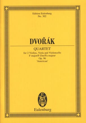 Streichquartett F-Dur, op. 96 B 179 - Partitur DVORAK laflutedepan