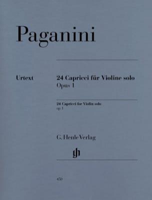 24 Capricci op. 1 PAGANINI Partition Violon - laflutedepan