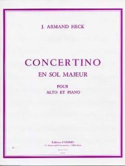 Concertino en sol majeur op. 40 J. Armand Heck Partition laflutedepan