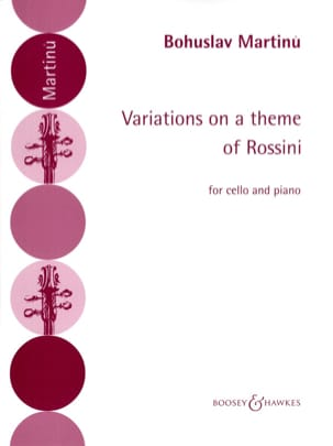 Variations on a theme of Rossini MARTINU Partition laflutedepan