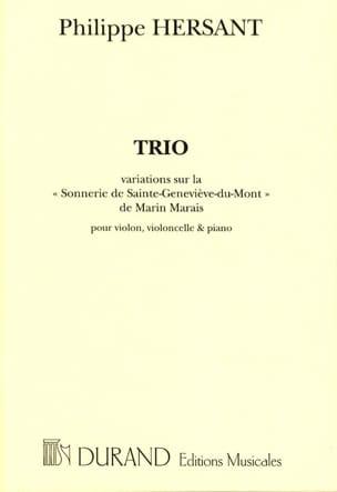 Trio -Parties Philippe Hersant Partition Trios - laflutedepan