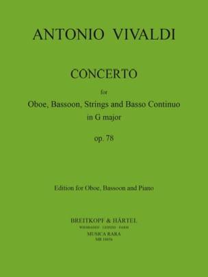Concerto in G Major RV 545 - Oboe bassoon piano VIVALDI laflutedepan