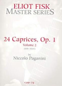 Caprices 13-24 Vol 2 - Guitare PAGANINI Partition laflutedepan