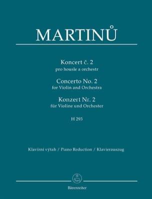 Bohuslav Martinu - Violin Concerto No. 2 - Violin and Piano - Partition - di-arezzo.co.uk
