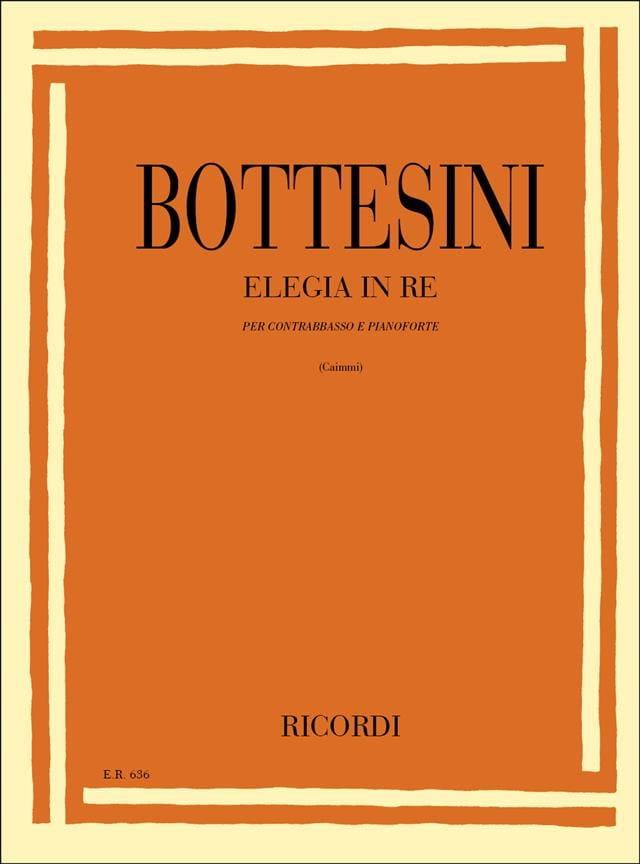 Elegia in re - BOTTESINI - Partition - Contrebasse - laflutedepan.com