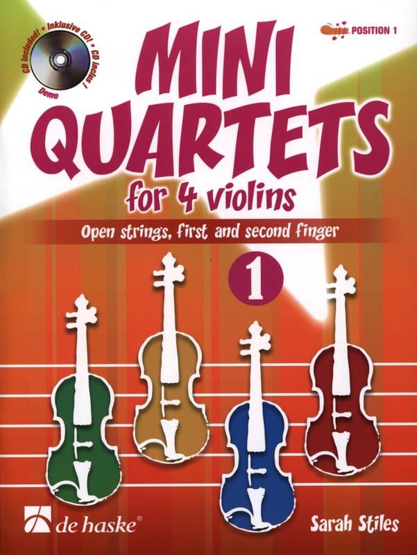Mini-Quartets For 4 Violins Volume 1 - Sarah Stiles - laflutedepan.com