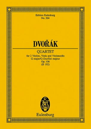Streich-Quartett G-Dur, Op. 106 DVORAK Partition laflutedepan