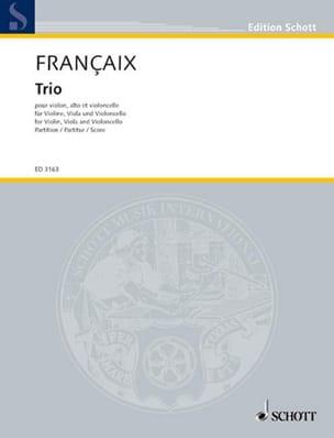 Trio à cordes 1933 - Conducteur FRANÇAIX Partition laflutedepan