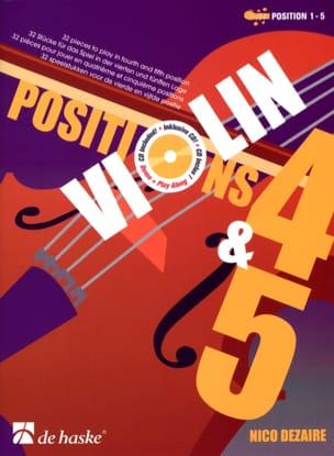 Positions 4 & 5 Nico Dezaire Partition Violon - laflutedepan