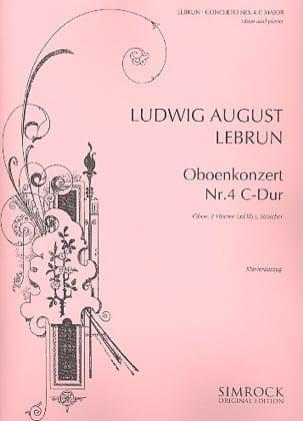 Konzert N° 4 C-Dur Ludwig August Lebrun Partition laflutedepan