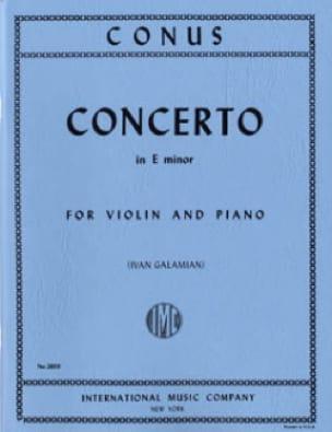Concerto mi mineur - Julius Conus - Partition - laflutedepan.com