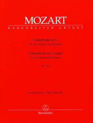 Concertone in C-Dur KV 190 -2 Violine Klavier MOZART laflutedepan