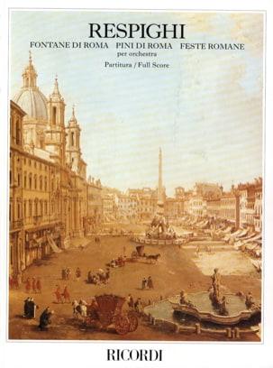 Fontane di Roma, Pini di Roma, Feste romane - Partitura laflutedepan