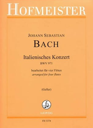 Concerto Italien BWV 971 BACH Partition laflutedepan