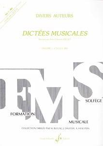 Dictées musicales - Volume 1 - Elève Jean-Clément Jollet laflutedepan