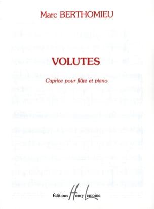 Volutes Marc Berthomieu Partition Flûte traversière - laflutedepan