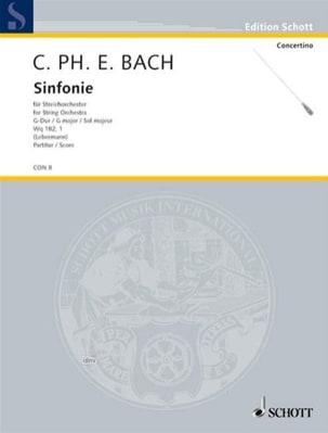Sinfonie G-Dur Wq 182/1 1773 - Conducteur laflutedepan
