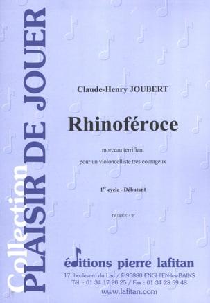 Rhinoféroce Claude-Henry Joubert Partition Violoncelle - laflutedepan