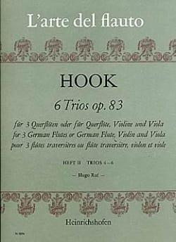 6 Trios op. 83 Heft 2 - 3 Flöten - James Hook - laflutedepan.com