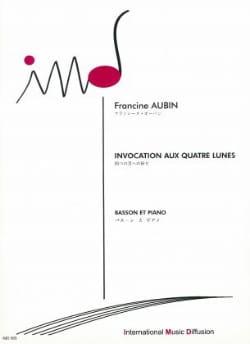 Invocation aux quatre lunes Francine Aubin Partition laflutedepan