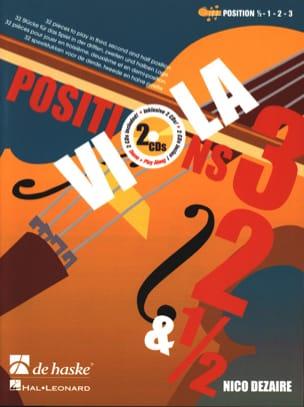 Viola Positions 1/2 - 1 - 2 - 3 Nico Dezaire Partition laflutedepan
