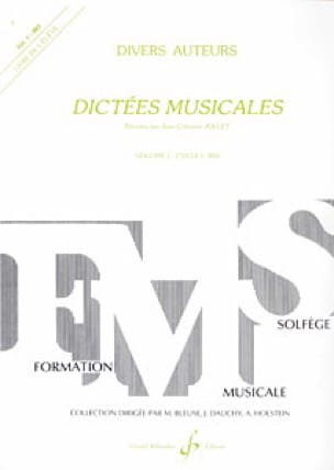 Dictées musicales - Volume 1 - Elève - laflutedepan.com