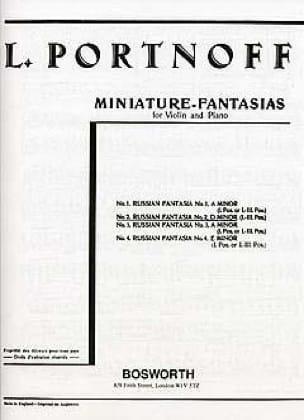 Fantaisie Russe N° 2 en Ré Mineur - Leo Portnoff - laflutedepan.com