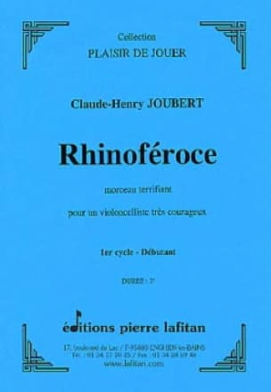 Rhinoféroce - Claude-Henry Joubert - Partition - laflutedepan.com