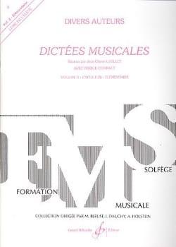 Dictées musicales - Volume 3 - Elève Jean Clément Jollet laflutedepan