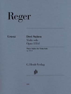 Trois Suites op. 131d pour alto solo Max Reger Partition laflutedepan