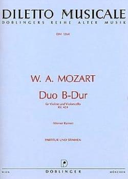 Duo B-dur KV. 424 MOZART Partition 0 - laflutedepan
