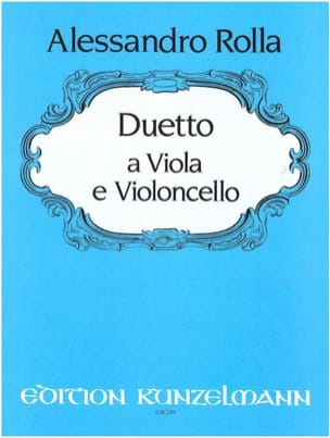 Duo für Viola und Violoncello Alessandro Rolla Partition laflutedepan