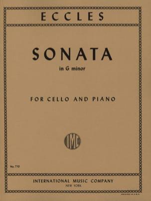 Sonata in G Minor - Violoncelle Henry Eccles Partition laflutedepan