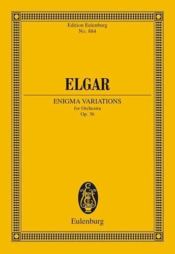 Enigma-Variationen - Conducteur - ELGAR - Partition - laflutedepan.com