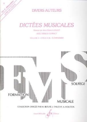 Dictées musicales - Volume 3 - Elève - laflutedepan.com