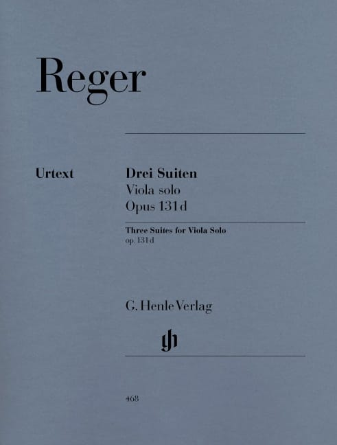 Trois Suites op. 131d pour alto solo - Max Reger - laflutedepan.com