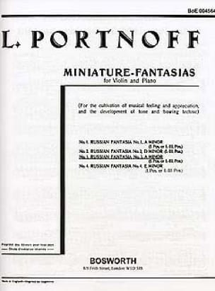 Fantaisie Russe N° 3 en La Mineur - Leo Portnoff - laflutedepan.com