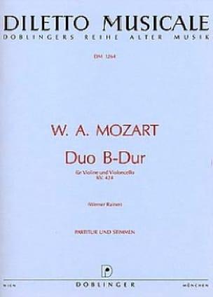 Duo B-dur KV. 424 - MOZART - Partition - 0 - laflutedepan.com