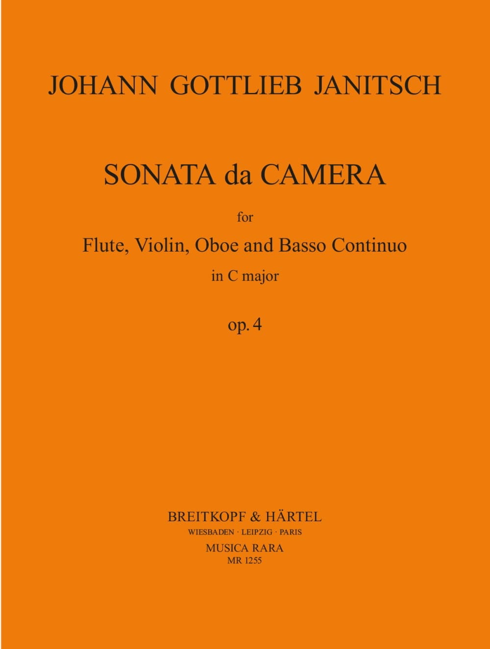 Sonata da camera in C op. 4 -Flute violin oboe BC - laflutedepan.com
