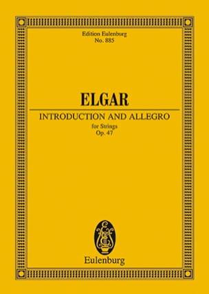Introduktion und Allegro ELGAR Partition Petit format - laflutedepan