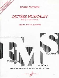 Dictées Musicales Volume 3 - Prof Jean-Clément Jollet laflutedepan