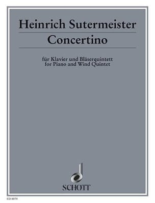 Concertino -Klavier Bläserquintett Heinrich Sutermeister laflutedepan