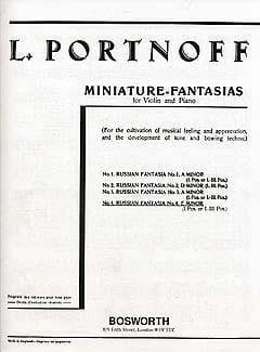 Fantaisie Russe N° 4 en Mi Mineur Leo Portnoff Partition laflutedepan